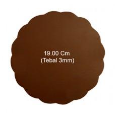 Tatakan Coklat Bulat